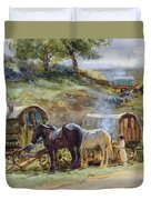 Gypsy Encampment Duvet Cover by John Atkinson