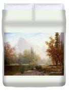 Half Dome Yosemite Duvet Cover by Albert Bierstadt