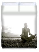 Hanalei Meditation Duvet Cover by Kicka Witte - Printscapes