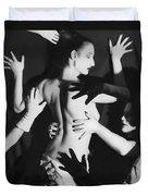 Hands Upon Me Duvet Cover by Jaeda DeWalt