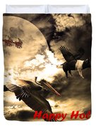 Happy Holidays . Winter Migration Duvet Cover by Wingsdomain Art and Photography