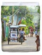 Happy Philippine Street Scene Duvet Cover by James BO  Insogna