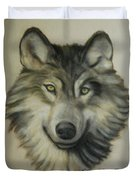 Happy Wolf Duvet Cover by Linda Diane Taylor