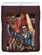 Harriet Tubman, Booker Washington Duvet Cover by Photo Researchers