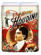 Harry Houdini - King Of Cards Duvet Cover by Digital Reproductions