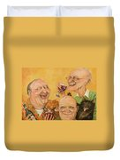 Harry's Lodge Meeting Duvet Cover by Shelly Wilkerson