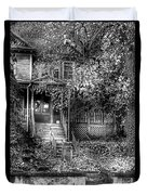 Haunted - Abandoned Duvet Cover by Mike Savad