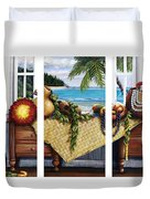 Hawaiian Still Life With Haleiwa On My Mind Duvet Cover by Sandra Blazel - Printscapes