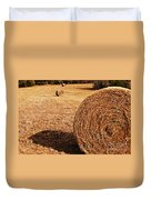 Hay In The Field Duvet Cover by Tamyra Ayles