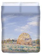 Haystack On The Banks Of The Loing Duvet Cover by Alfred Sisley