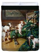 He Who Pays The Piper Calls The Tune Duvet Cover by John Hayes