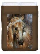 Head Horse 2 Duvet Cover by Arthur Braginsky
