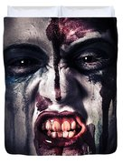 Head Shot On A Pure Evil Zombie Girl Duvet Cover by Ryan Jorgensen