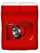 Headlamp On Antique Fire Engine Duvet Cover by Douglas Barnett