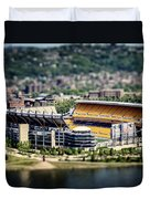 Heinz Field Pittsburgh Steelers Duvet Cover by Lisa Russo
