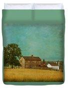 Henry House At Manassas Battlefield Park Duvet Cover by Kim Hojnacki