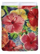 Hibiscus Impressions Duvet Cover by Patti Bruce - Printscapes
