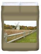 Higgins Farm Windmill Brewster Cape Cod Duvet Cover by Matt Suess