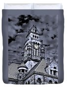 High Noon Black And White Duvet Cover by Tamyra Ayles
