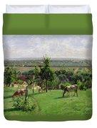 Hillside Of Vesinet Duvet Cover by Camille Pissarro