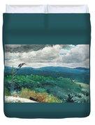 Hilly Landscape Duvet Cover by Winslow Homer