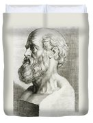 Hippocrates, Greek Physician Duvet Cover by Science Source