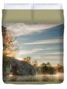 Hole In The Rock Duvet Cover by Evgeni Dinev