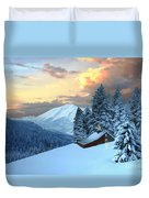 Home And Hearth Duvet Cover by Corey Ford