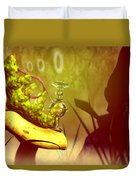 Hookah Smoking Caterpillar Duvet Cover by Carol and Mike Werner