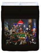 Horror Card Game Duvet Cover by Tom Carlton