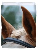 Horse at Attention Duvet Cover by Jennifer Lyon