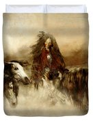 Horse Spirit Guides Duvet Cover by Shanina Conway