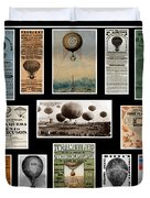 Hot Air Balloon Posters Duvet Cover by Andrew Fare