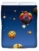 Hot Air Balloons Duvet Cover by Michael Howell - Printscapes