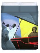 Hot And Cool Jazz Duvet Cover by Kaaria Mucherera
