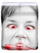 Hot Chilli Woman Duvet Cover by Ryan Jorgensen