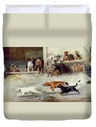 Hot Pursuit Duvet Cover by William Henry Hamilton Trood