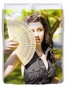 Hot Woman Duvet Cover by Jorgo Photography - Wall Art Gallery