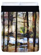 House Surrounded By Trees 2 Duvet Cover by Lanjee Chee
