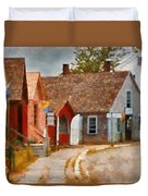Houses - Maritime Village  Duvet Cover by Mike Savad
