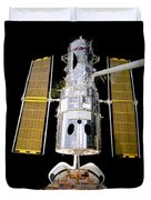 Hubble Telescope Redeployment Duvet Cover by The  Vault - Jennifer Rondinelli Reilly