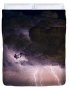 HWY 52 - HWY 287 Lightning Storm Image 29 Duvet Cover by James BO  Insogna