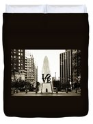 I Love Philadelphia Duvet Cover by Bill Cannon
