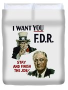I Want You Fdr  Duvet Cover by War Is Hell Store