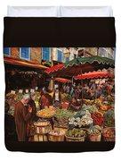 Il Mercato Di Quartiere Duvet Cover by Guido Borelli