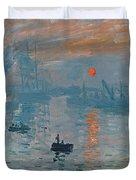 Impression Sunrise Duvet Cover by Claude Monet
