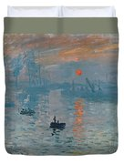 Impression Sunrise Duvet Cover by Claude Monet