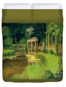 In A Park Duvet Cover by Edouard Manet
