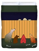 In Bad Time On The Bad Place Duvet Cover by Michal Boubin