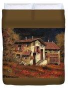 In Campagna La Sera Duvet Cover by Guido Borelli